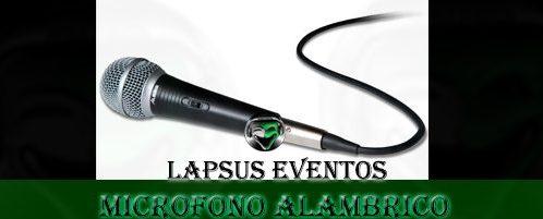 Alquiler de Microfono Alambrico