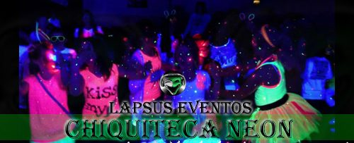 Chiquiteca glow party neon