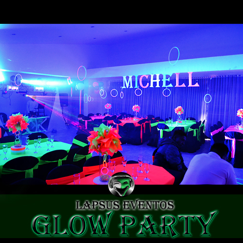 salon-fiesta-neon glow party decoracion