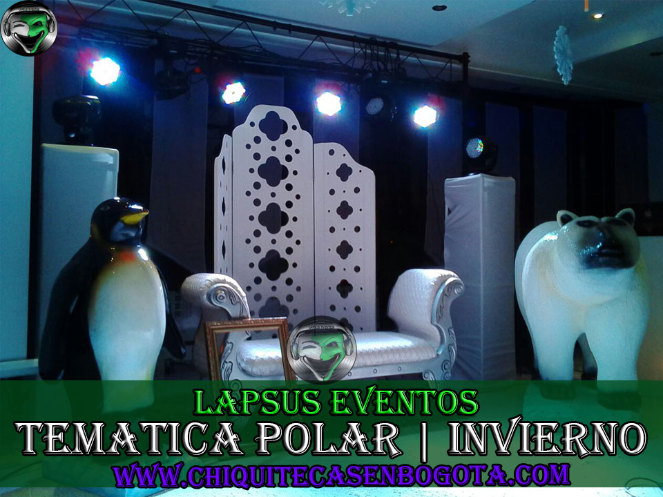 Tematica polar lapsus eventos tel 374 7470 300 244 4210 for Decoracion para 15 anos 2016
