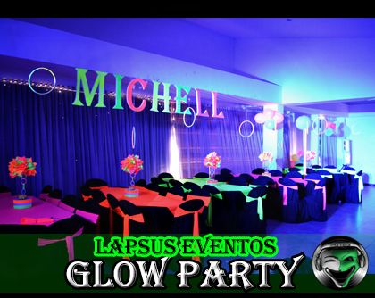 alquiler de manteleria de neon decoracion fiesta glow party