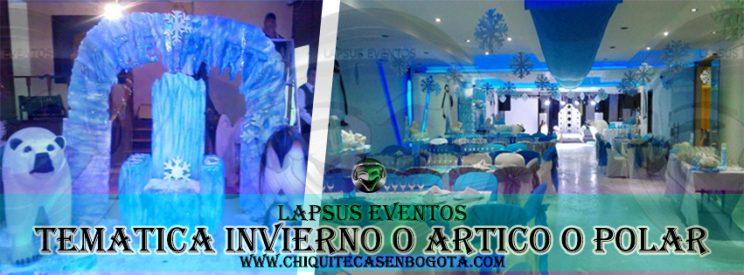 Tematica Polar o Artico o Invierno Bogota alquiler tematica decoracion