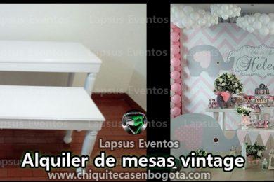 Alquiler de mesas vintage para eventos