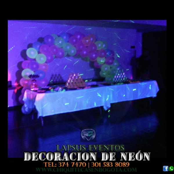 decoracion de neon en bogota