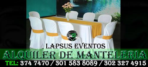 Alquiler de Manteleria en Bogota