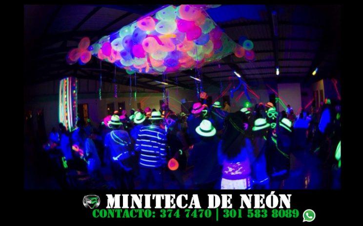 miniteca de neon fiesta neon