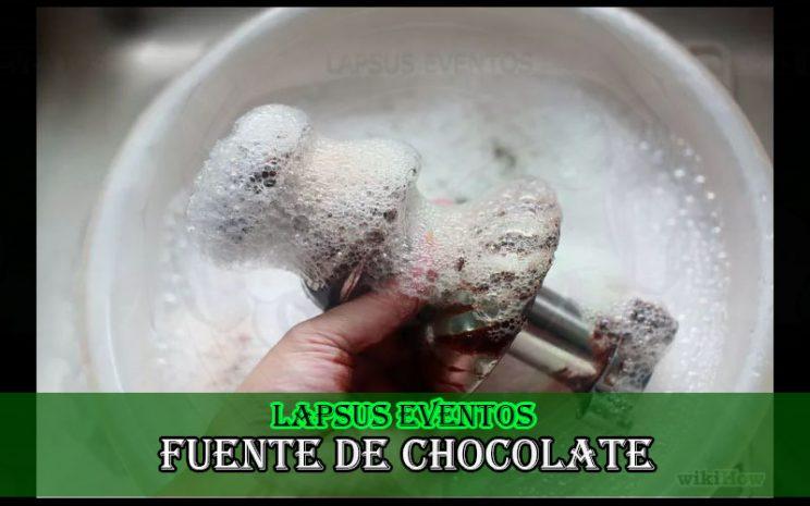 alquiler de fuente de chocolate eventos