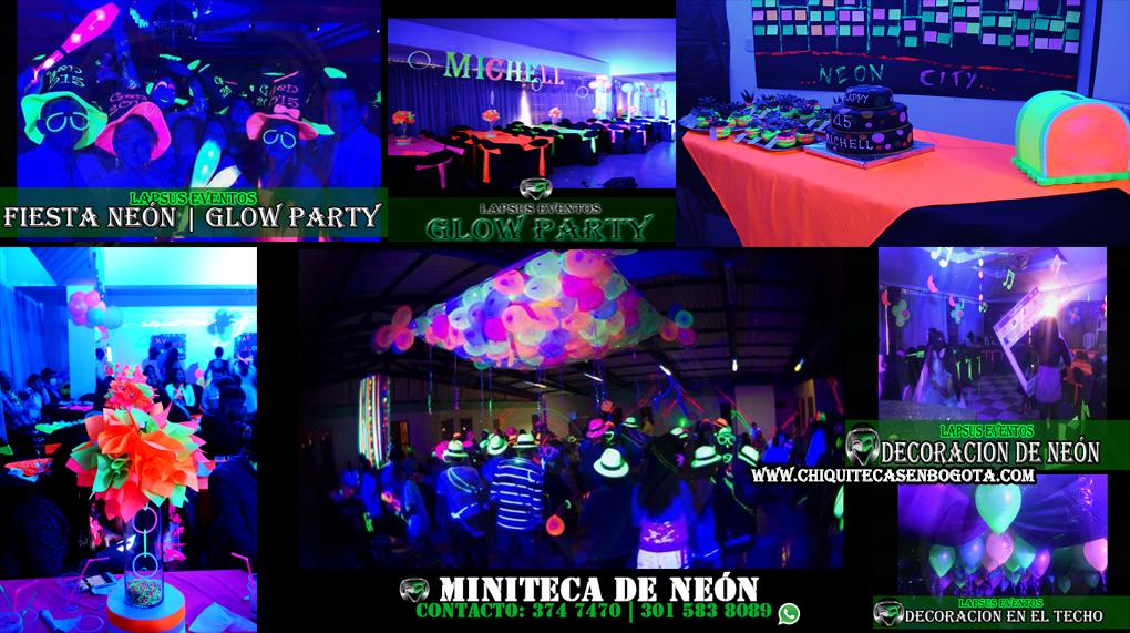 Tematica de neon o glow party lapus e tel 374 7470 for Almacenes decoracion bogota
