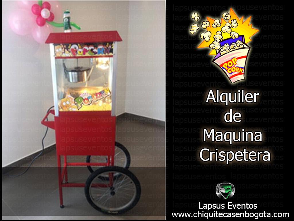 Alquiler de crispetera en Bogota